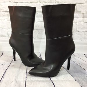 Charles David Palisade black high heeled bootie
